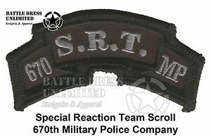 Military Police Battalion Custom Made Cloth Patch for Sale