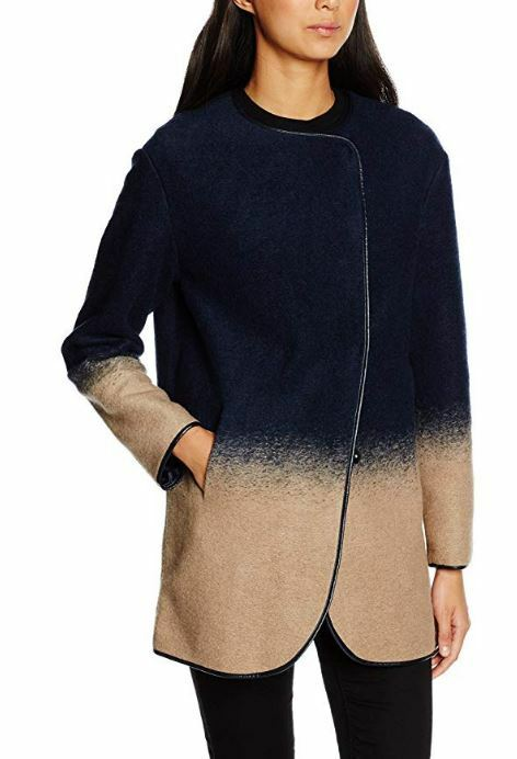 Armani Jeans women's bi-color unlined wool coat size 16UK(48IT) see description