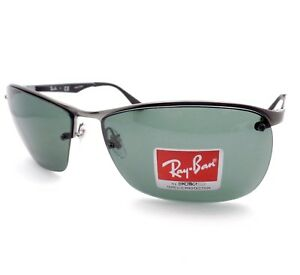 de56c264e2 Ray Ban 3550 029 71 Matte Gunmetal Green New Sunglasses Authentic rl ...
