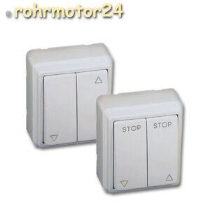 Rolladenschalter-Wippschalter-Schalter-Wippe-AP-Aufputz-Rolladen-Rolladenmotor