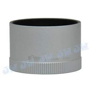 JJC-Camera-49MM-UV-CPL-ND-FILTER-THREAD-LENS-ADAPTER-TUBE-FOR-LEICA-X1-X2-SILVER