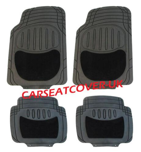 Para Nissan Qashqai +2 Negro de goma H deber todo el tiempo Coche Tapetes Alfombra