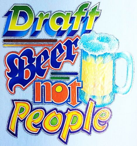 Details about  /Original Vintage Draft Beer Not People Iron On Transfer Alcohol