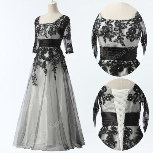 Vintage Lace Mother of The Bride Groom Wedding Prom Dress Formal Outfits Plus Sz