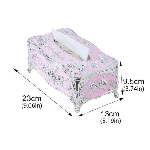 European Retro Tissue Box Napkin Holder Paper Case Cover for Home Dining Decor