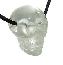 Clear Quartz Skull Pendant Necklace Natural Chakra Reiki Healing Stone