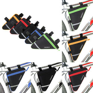 Triangle Cycling Bike Bicycle Front Tube Frame Pouch Bag Holder Saddle Pannier s