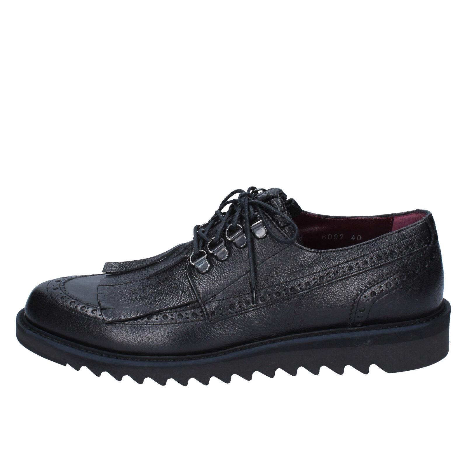 men's shoes ROBERTO BOTTICELLI 10 () elegant black leather BY585-43