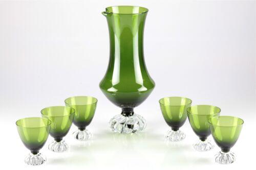 Bar Service Karaffe 6 Gläser grün Bo Borgström Åseda Art ASEDA Mid Century U6O