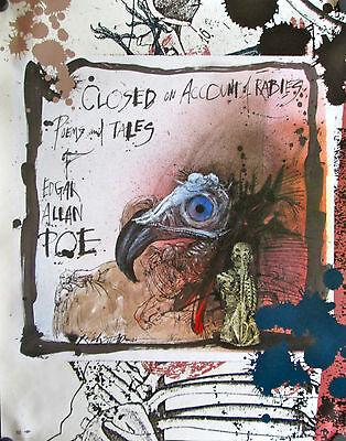 RALPH STEADMAN ~ HELL HOUND 23x35 FINE ART POSTER Fahrenheit 451 Hellhound
