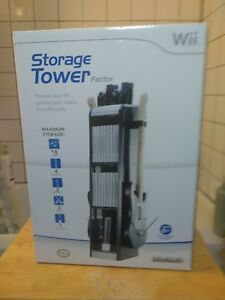 NEW-IN-BOX-Nintendo-Wii-Level-Up-Factor-Gaming-Storage-Tower-Black-Grey