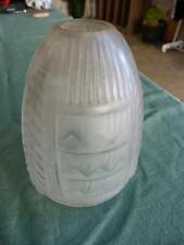 Belle Tulipe abat jour ART DECO en pâte de verre, applique lampe DE bureau