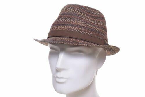 Göttmann Sommer Trilby Morris braun multi Strohhut Sommer Hut Sonnen Hüte Fedora