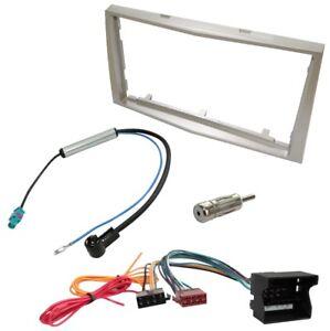 Kit-Adaptateur-Autoradio-Cadre-beige-2-DIN-Cable-Faisceaux-compatible-avec-Opel