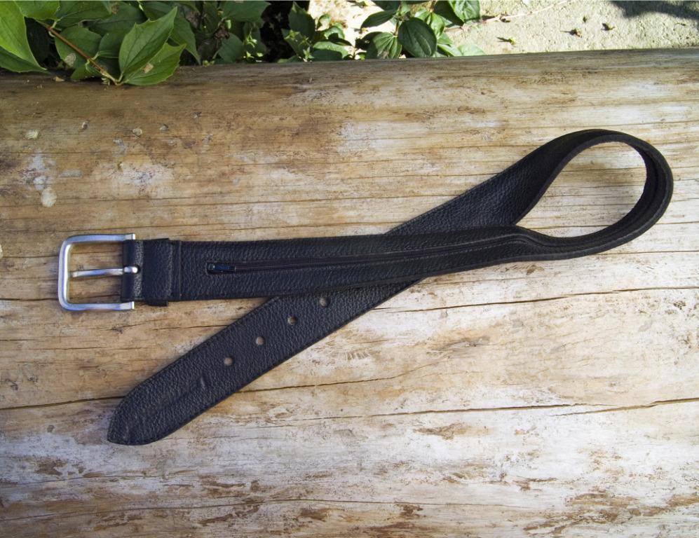Leather Safes Money Belt  Shine black 43 5 16in Secure Container Secret  most preferential