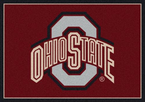 """Approx 3/'10/""""x5/'4/"""" 4x6 Milliken Ohio State Buckeyes 45262 NCAA Spirit Area Rug"""