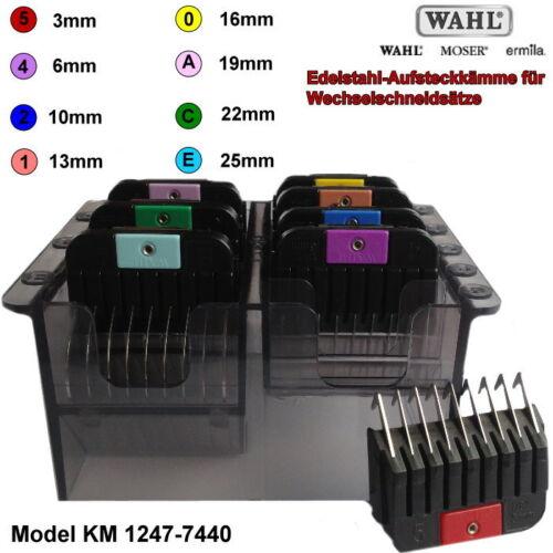Moser aufsteckkamm Set 1247-7440 in acciaio inox-aufschiebekämme per max45 max50