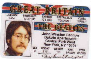 John-Lennon-of-the-BEATLES-plastic-ID-card-Drivers-License