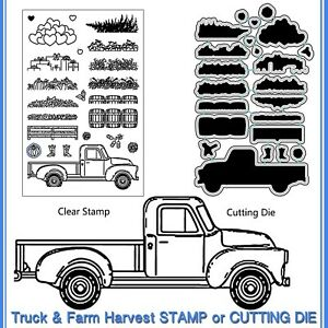 Farm-Truck-Metal-Cutting-Die-Stencil-DIY-Scrapbooking-Embossing-Paper-Card-Decor