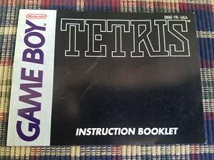 Tetris-Authentic-Nintendo-Game-Boy-GB-Manual-Only
