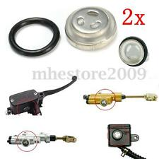 2x 10mm Motorcycle Bike Brake Master Cylinder Reservoir Sight Glass Lens Gasket