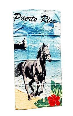 """Puerto Rico Beach /& Pool Towel with /""""Amapolas/"""""""