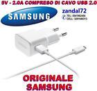 CARICABATTERIA + CAVO USB 2.0 SAMSUNG ORIGINALE S4 MINI S3 S3 MINI ETA-U90EWE B,