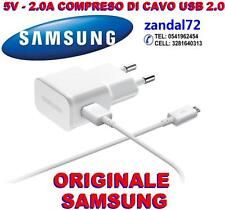 CARICABATTERIA + CAVO USB 2.0 SAMSUNG ORIGINALE GALAXY S4 I9500 ETA-U90EWE B.