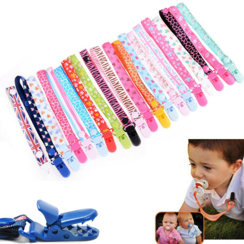 Baby Kids Chain Clip Holders Boy Girl Dummy Pacifier Soother Nipple Strap
