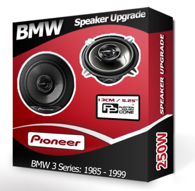 """BMW 3 Series Front Kick Panel Speakers Pioneer 5.25"""" 13cm car speaker kit 250W"""