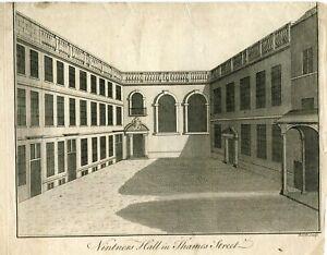 Vintners-Hall-in-Thames-Street-Engraving-by-Benjamin-Cole-in-1756