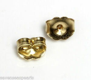 14KT-yellow-Gold-6mm-Push-On-Earrings-Replacement-Butterfly-Backs-Backings