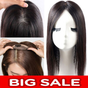 Mono-Silk-100-Human-Hair-Topper-Hairpiece-Toupees-Top-Piece-For-Loss-Hair-P943