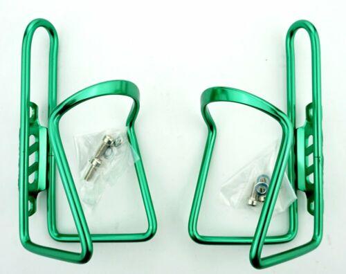 2x Fahrrad Flaschenhalter M-Wave Alu grün