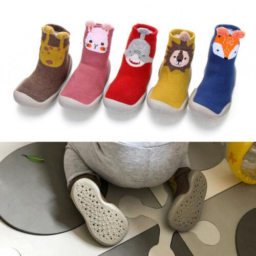 New Baby Girls Boys Toddler Anti-slip Slippers Socks Cotton Shoes Winter Warm