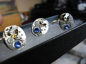 vintage-oval-steampunk-lapel-tie-cravate-stud-pin-and-cufflinks-set-sapphire