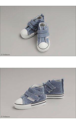 Two strap Sneakers Blue Dollmore 1//4 BJD Scale Size Shoes MSD