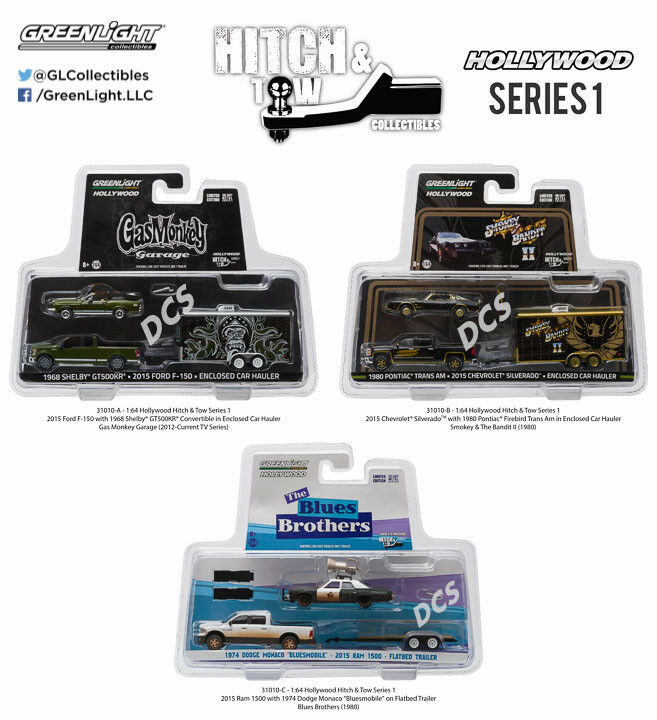 GREENLIGHT HOLLYWOOD HITCH & TOW SERIES 1 SET OF 3 1 64 DIECAST CAR 31010-A-B-C