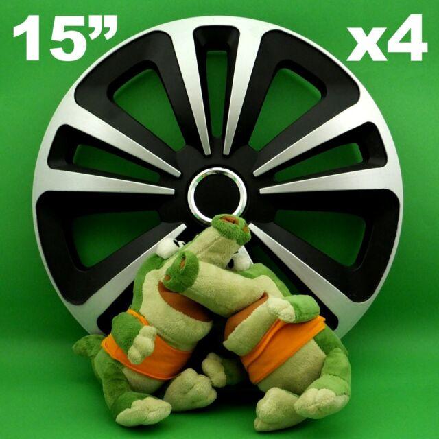 black NEW 4x15/'/' Wheel trims for Skoda Octavia Fabia Rapid 15/'/'