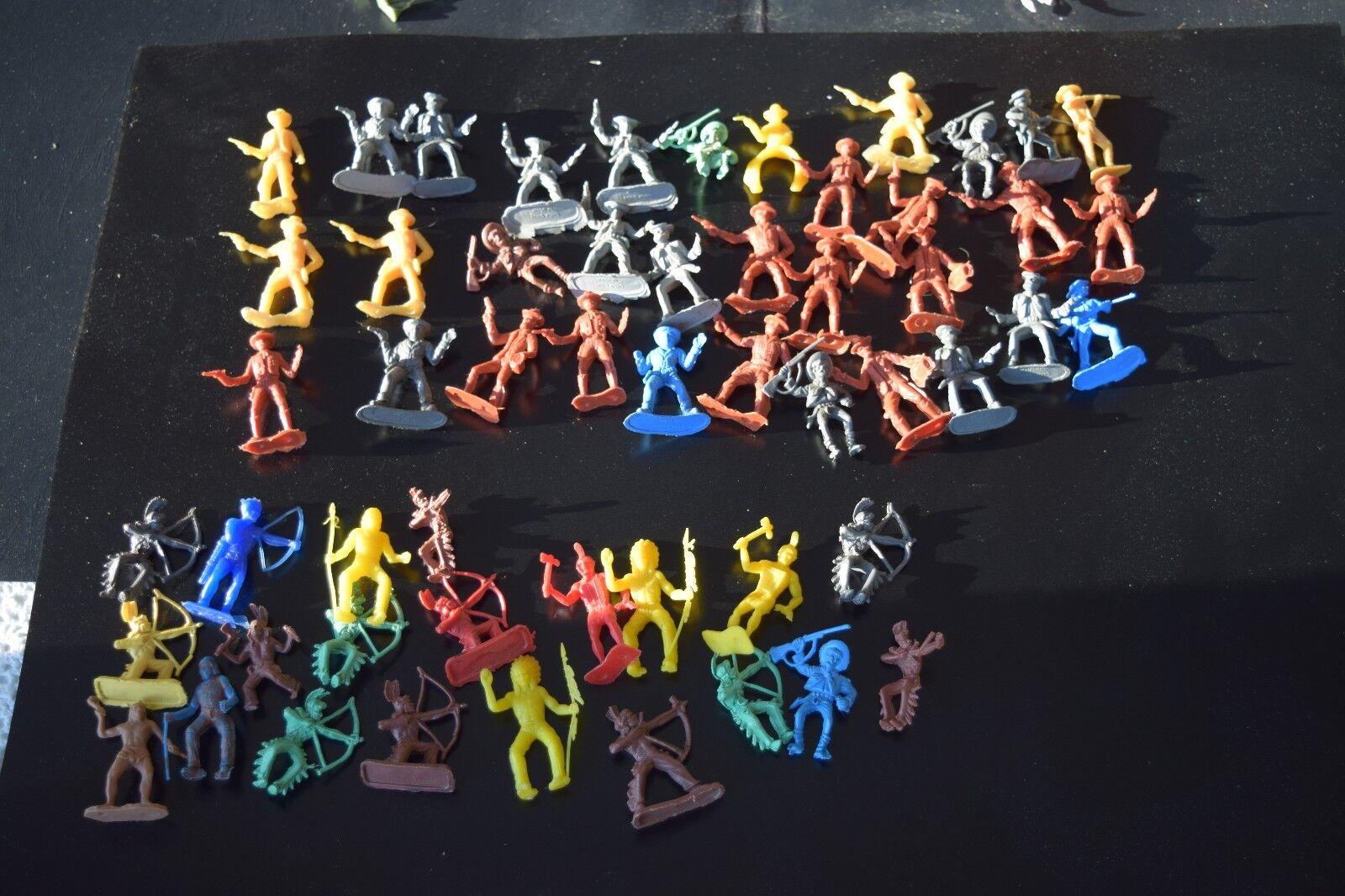 195 jahrgang 1960 plastikfigur viele indianer cowboys, tiere, die armee männer + space