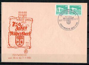 DDR-R-d-a-Sou-Minr-1868-Sst-Rudersdorf-750-Annees-Festwoche-08-07-1985
