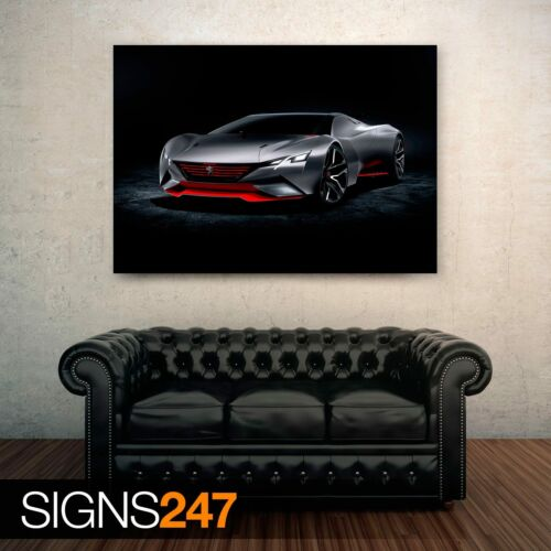 Poster Print A1 A2 A3 A4 Car Poster 0035 2015 PEUGEOT VISION GRAN TURISMO