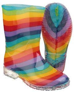 Cotswold-PVC-Rainbow-impermeable-Enfants-Filles-bottes-en-caoutchouc-uk4-13