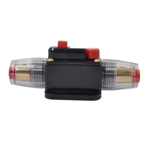 Audio Video DC12 24V 60Amp Inline Leitungsschutzschalter Solar Auto