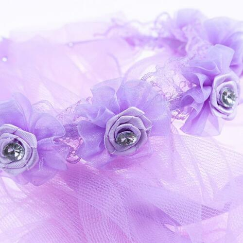 Baby Kids Flower Girl Lace Wedding Bride Maid Garland Hair Headband Veil LC