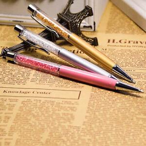Kristall-Kugelschreiber-Gelschreiber-Geschenk-Briefpapier-Buero-Schule-NotebookPD