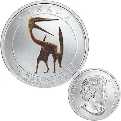 Quetzalcoatlus GLOW IN THE DARK DINOSAUR 2013 Canada 25 Cents SOLD OUT AT MINT