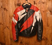 DAINESE RIDERS ARMOR CAFE RACER MOTORCYCLE BIKER LEATHER JACKET 42-L