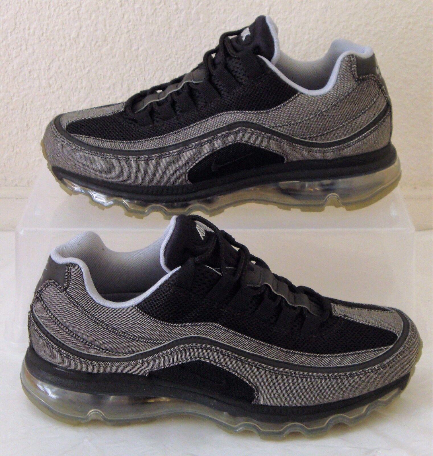 New Vintage HOA Nike Shoes Air Max 24 7 Black Silver Mens US Size 7