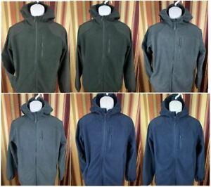 NEW-Men-039-s-Reebok-Full-Zip-Hoodie-Jacket-Fleece-Mixed-Media-Layering-Warm